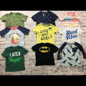 Boys 4T bundle of short sleeve shirts
